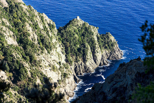Photograph - Portofino Ancient Tower At Cala Dell'oro Bay by Enrico Pelos