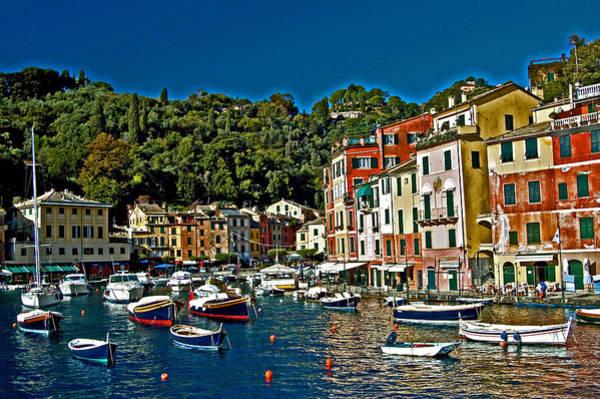 Portofino Photograph - Portofino Bay Italy by Allan Einhorn