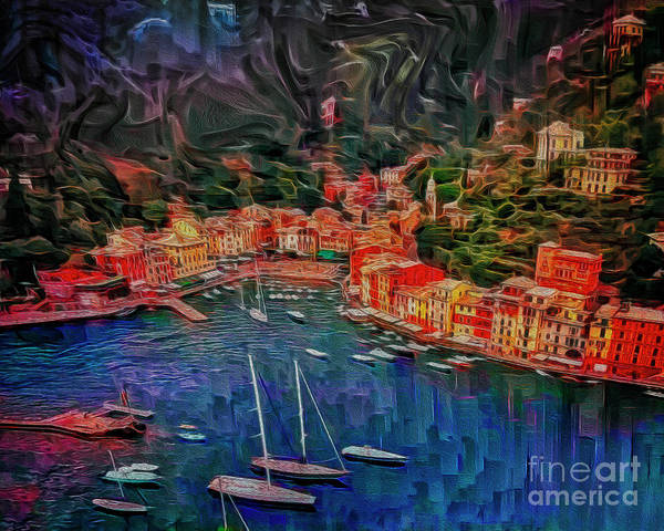Digital Art - Portofino by Edmund Nagele