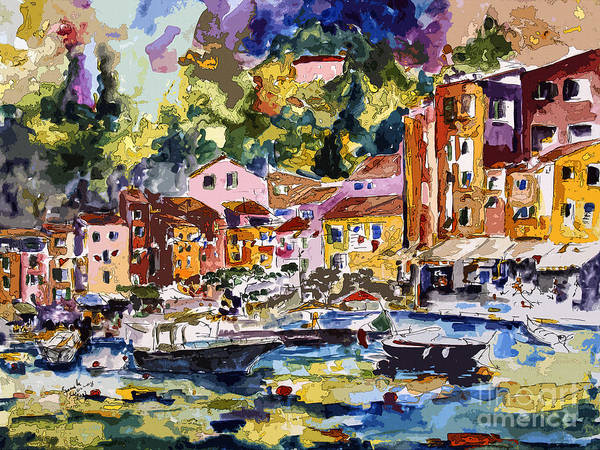 Mixed Media - Portofino Italy Bella Italia by Ginette Callaway