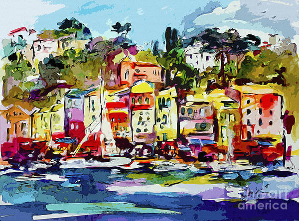 Painting - Portofino Modern Art Italy by Ginette Callaway