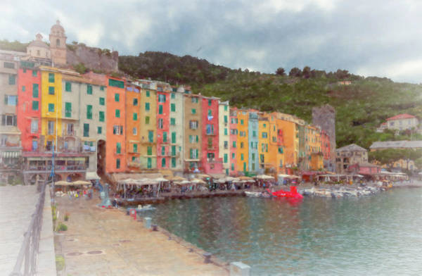Photograph - Portovenere Italy Waterfront Artistic by Joan Carroll