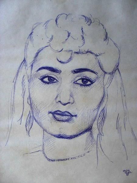 Wall Art - Drawing - Portrait 113 by Mohd Raza-ul Karim