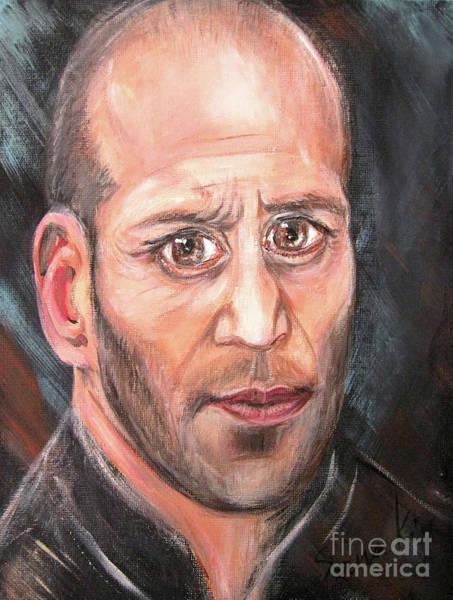 Painting - Portrait 3 Of Jason Statham by Oksana Semenchenko