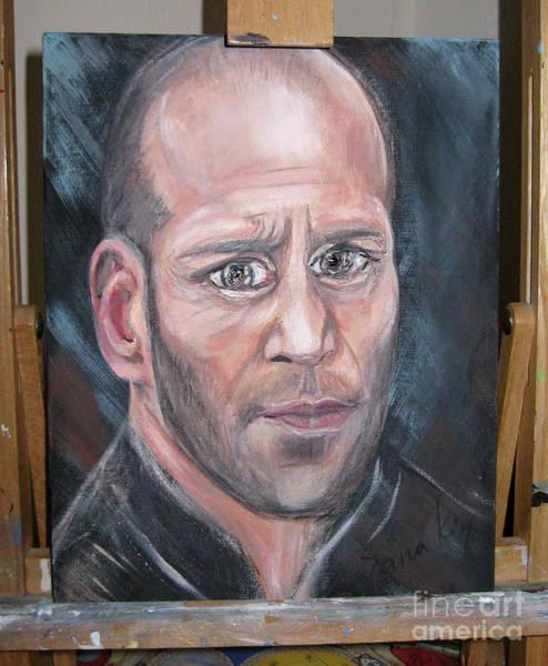 Painting - Portrait 4 Of Jason Statham by Oksana Semenchenko