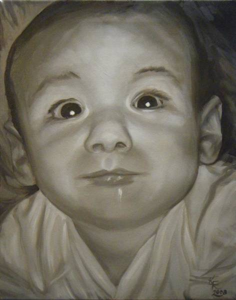 Wall Art - Painting - Portrait Commission by Katherine Huck Fernie Howard