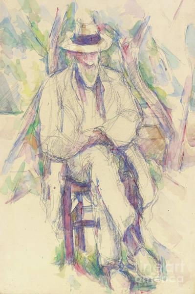 Crossed Legs Painting - Portrait De Vallier by Paul Cezanne