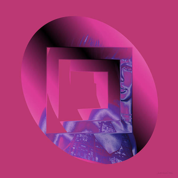 Digital Art - Portrait In Berry 3 by Judi Suni Hall