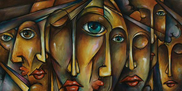 Urban Expressions Wall Art - Painting - Portrait by Michael Lang