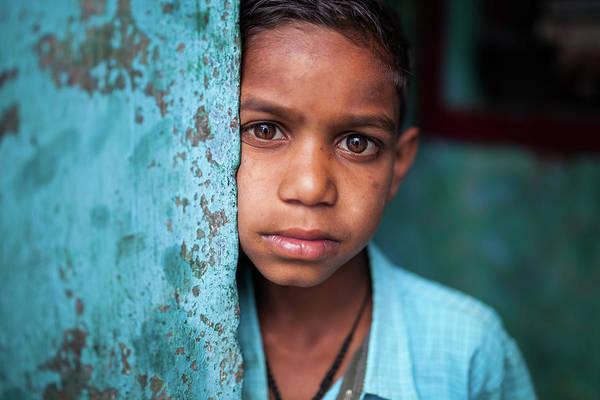Photograph - Portrait Of A Boy by Mahesh Balasubramanian