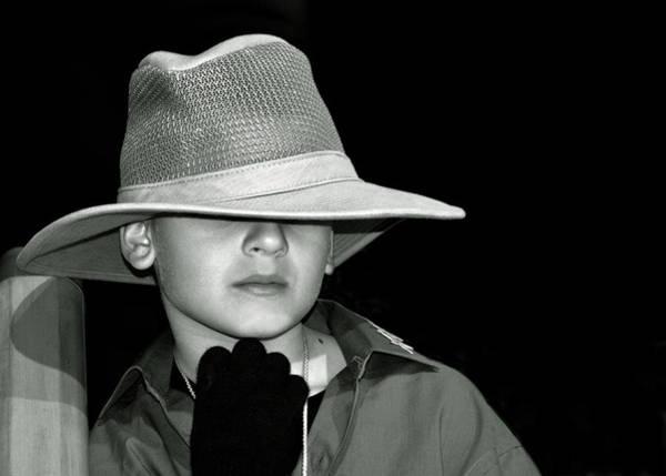 Portrait Of A Boy With A Hat Art Print