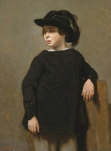 Painting - Portrait Of A Child by Jean-Baptiste-Camille Corot