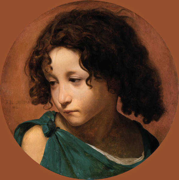 Wall Art - Painting - Portrait Of A Child by Jean-Leon Gerome