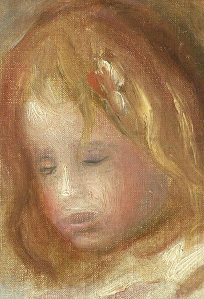 Subtle Painting - Portrait Of A Child by Pierre Auguste Renoir