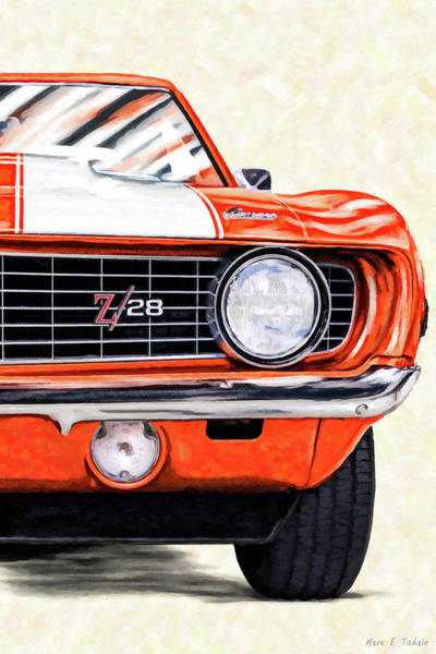 Mixed Media - Portrait Of A Classic - 1969 Camaro by Mark Tisdale