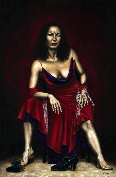 Wall Art - Painting - Portrait Of A Dancer by Richard Young