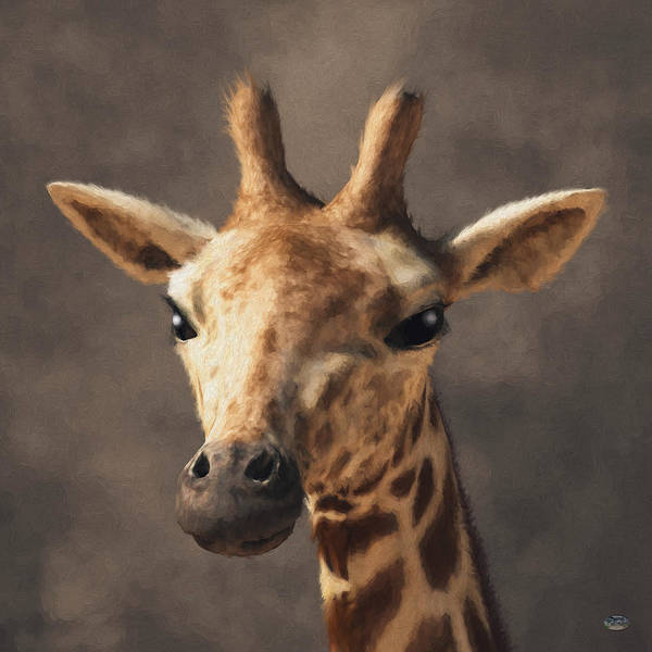Digital Art - Portrait Of A Giraffe  by Daniel Eskridge