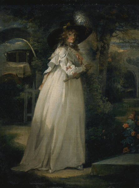 Wall Art - Painting - Portrait Of A Girl In A Garden by George Morland