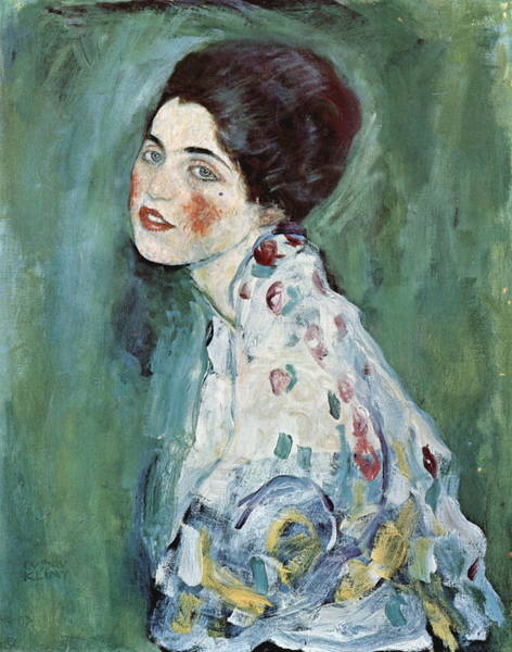 Camomile Painting - Portrait Of A Lady 2 by Gustav Klimt