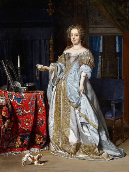Gabriel Painting - Portrait Of A Lady. Lucia Wijbrants by Gabriel Metsu