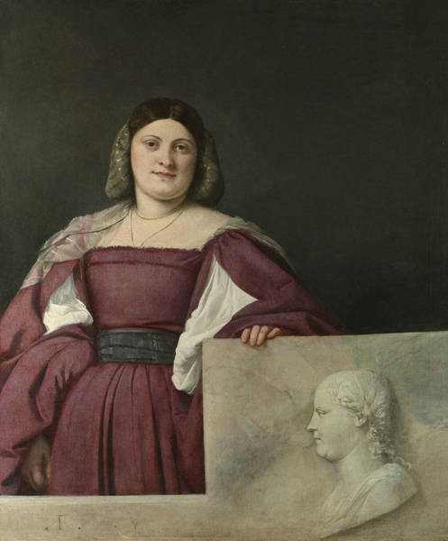 Titian Painting - Portrait Of A Lady by Titian