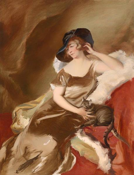 Boa Painting - Portrait Of A Lady With A Cat by Mountain Dreams