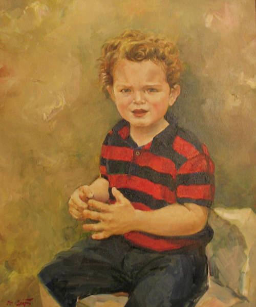 Painting - Portrait Of A Little Boy by Tigran Ghulyan