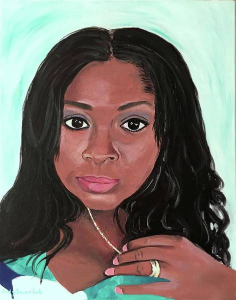 Wall Art - Painting - Portrait Of A Lovely Lady by Judy Swerlick