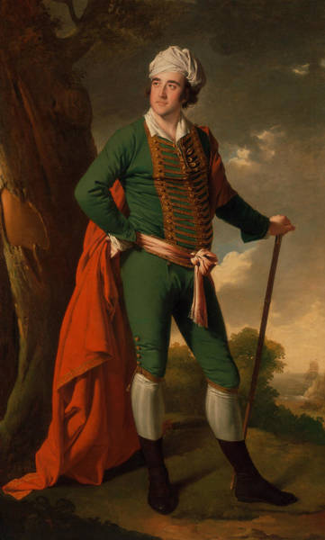 Painting - Portrait Of A Man, Known As The Indian Captain by Joseph Wright