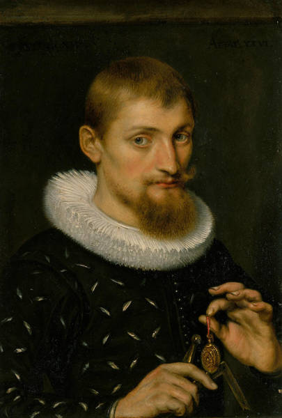Painting - Portrait Of A Man, Possibly An Architect Or Geographer by Peter Paul Rubens