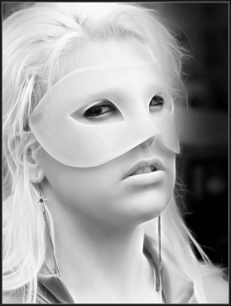 Photograph - Portrait Of A Masked Heroine by Jon Volden