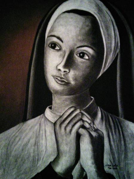 Painting - Portrait Of A Nun by Alma Bella Solis