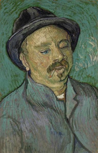 Painting - Portrait Of A One Eyed Man Saint Remy De Provence  Autumn 1889 Vincent Van Gogh 1853  1890 by Artistic Panda