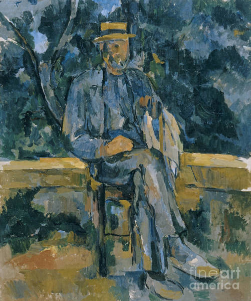 Crossed Legs Painting - Portrait Of A Peasant by Paul Cezanne