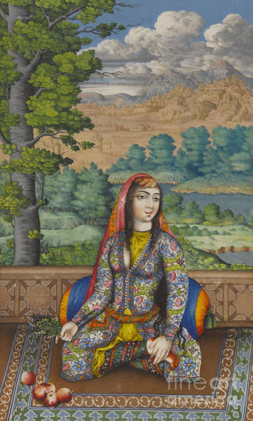 Wall Art - Painting - Portrait Of A Persian Lady by Persian School