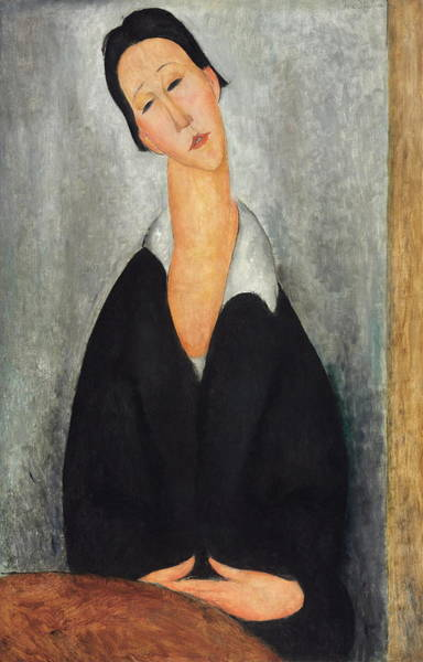 Camomile Painting - Portrait Of A Polish Woman 1919 by Amedeo Modigliani