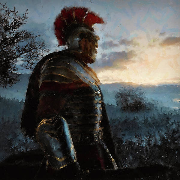 Portrait Of A Roman Legionary - 34 Art Print