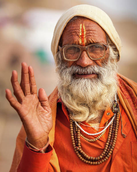 Photograph - Portrait Of A Sadhu, Varanasi, India by Mahesh Balasubramanian