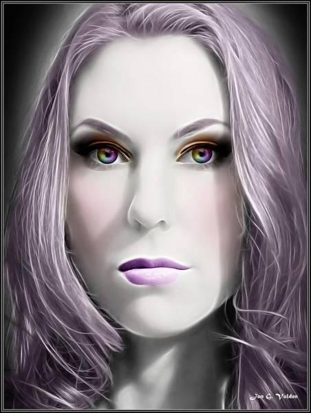 Ir Painting - Portrait Of A Scornful Fairy by Jon Volden