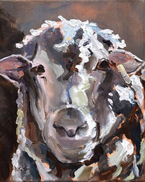 Painting - Portrait Of A Sheep by Donna Tuten