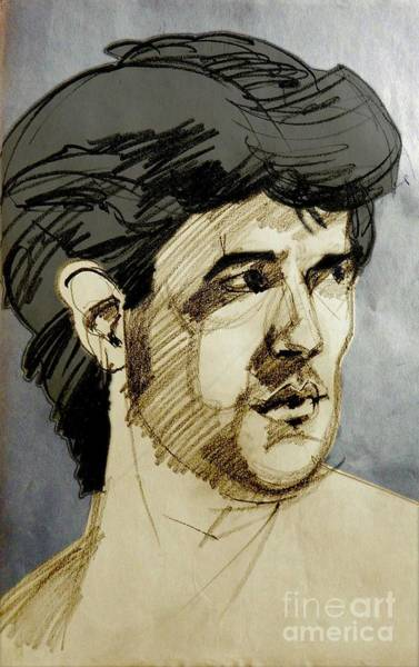 Mixed Media - Portrait Of A Swarthy Young Man by Greta Corens