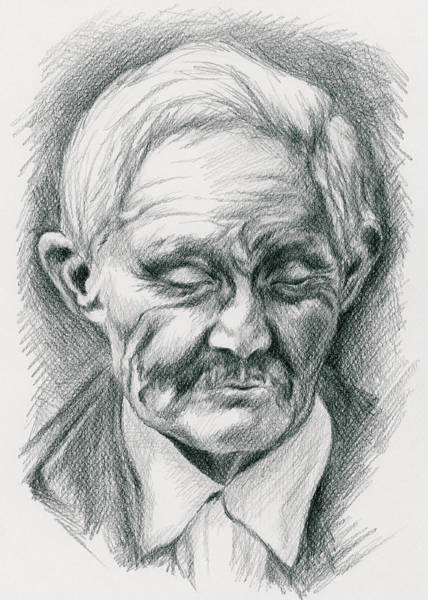 Drawing - Portrait Of A Swedish Immigrant by MM Anderson