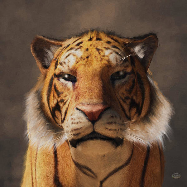 Digital Art - Portrait Of A Tiger by Daniel Eskridge