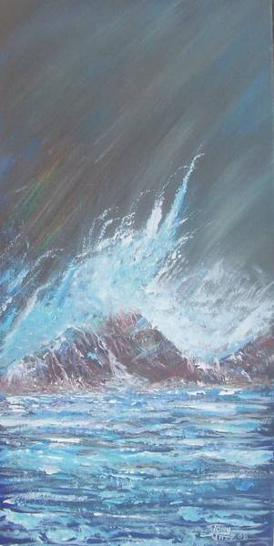 Painting - Portrait Of A Wave by Tony Rodriguez