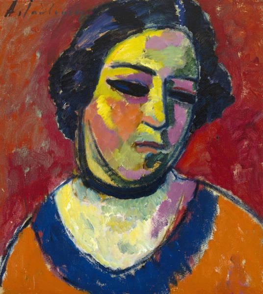 Munich Painting - Portrait Of A Woman by Alexej von Jawlensky