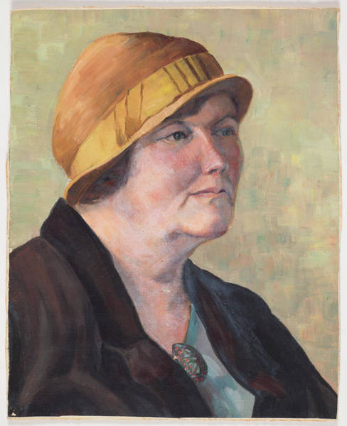 Untitled Painting - Portrait Of A Woman by Elizabeth Berry