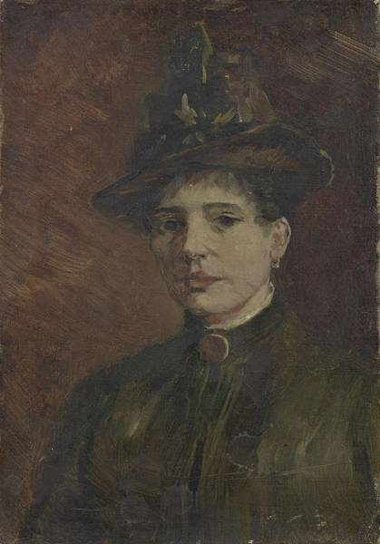 Painting - Portrait Of A Woman Paris  March  June 1886 Vincent Van Gogh 1853  1890 by Artistic Panda