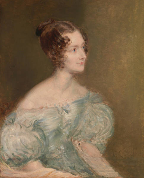 Painting - Portrait Of A Woman, Probably Mrs. Price Of Rugby by John Linnell