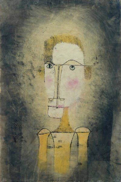 Painting - Portrait Of A Yellow Man By Paul Klee 1921 by Paul Klee