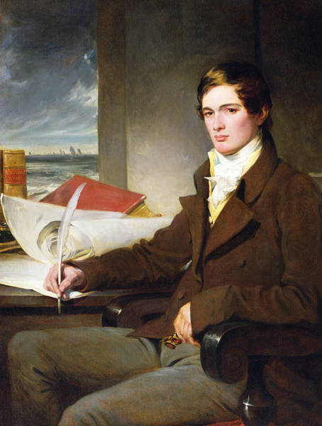 Wall Art - Painting - Portrait Of A Young Gentleman by English School